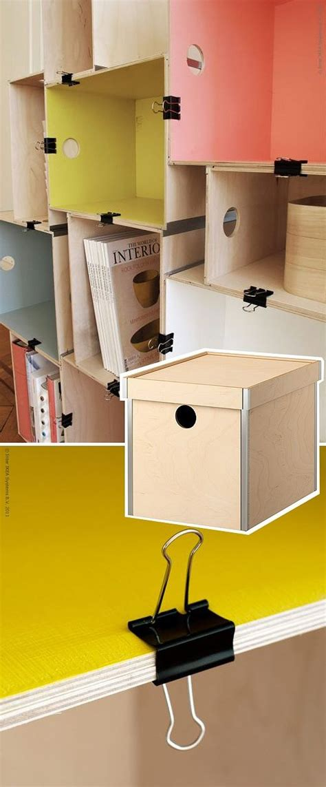 nornas bookcase hack usos de clips storage pinterest book shelves