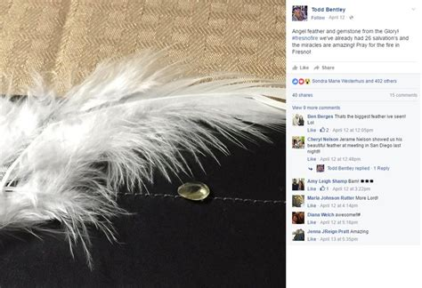 todd bentley update demoniac false preacher todd bentley says feathers