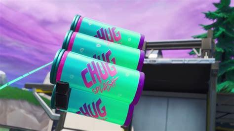 fortnite  item chug splash trailer ign