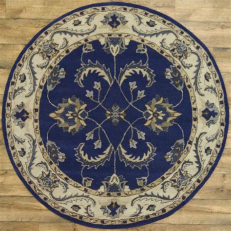 Square Area Rugs 6x6 100 Wool Classic Floral Blue 6x6 Tabriz Agra Area Rug Carpet Ebay