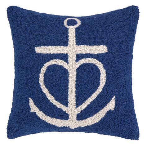 Navy Anchor Pillow by Navy Anchor Hook Pillow