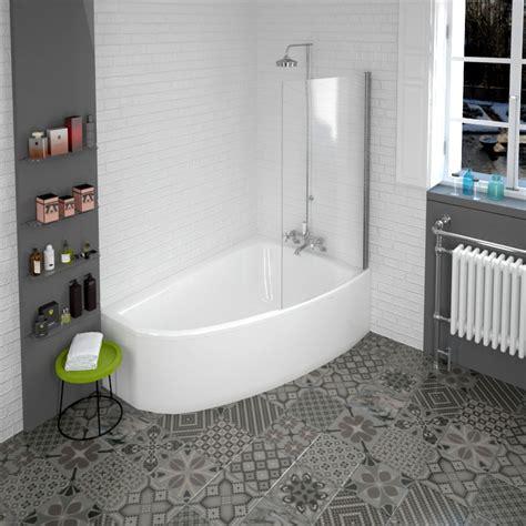 corner shower bath with screen clia rh corner bath and panel and screen buy at bathroom city