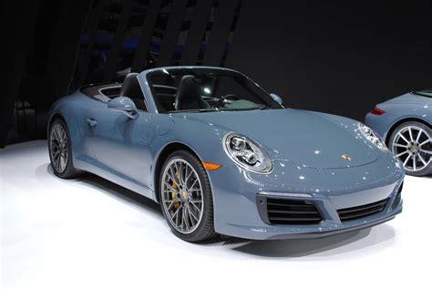 blue porsche 2016 detroit 2016 porsche 911 carrera s cabriolet gtspirit