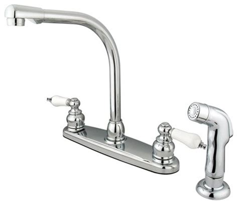 traditional kitchen faucet water saving victorian high arch kitchen faucet chrome