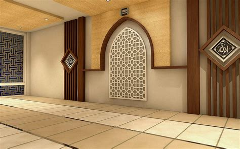 desain kaligrafi mushola perencanaan desain interior pesantren bratang gede