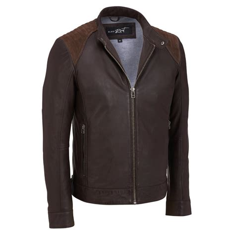 Jaket Towtone Black black rivet mens two tone leather cycle jacket ebay