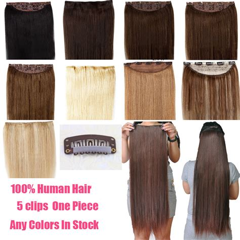 one clip in 100 human hair extensions hair 16 quot 18 quot 22 quot one clip in remy human hair extensions