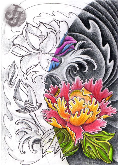 tattoo lotus rose tattoos photo by robert honeycutt