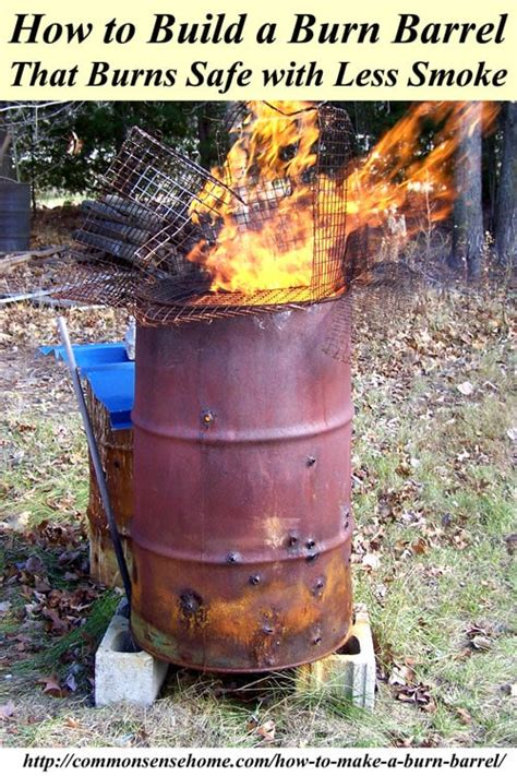 metal trash can pit how to make a burn barrel burn safe with less smoke