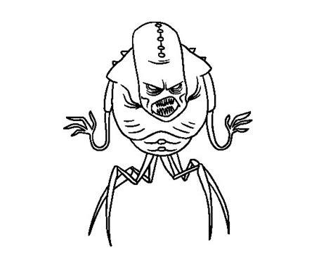 imagenes de monstruos faciles para dibujar dibujo de monstruo alien ar 225 cnido para colorear dibujos net