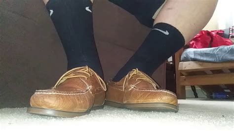 boat shoes with socks polo boat shoes black nike socks on feet by request