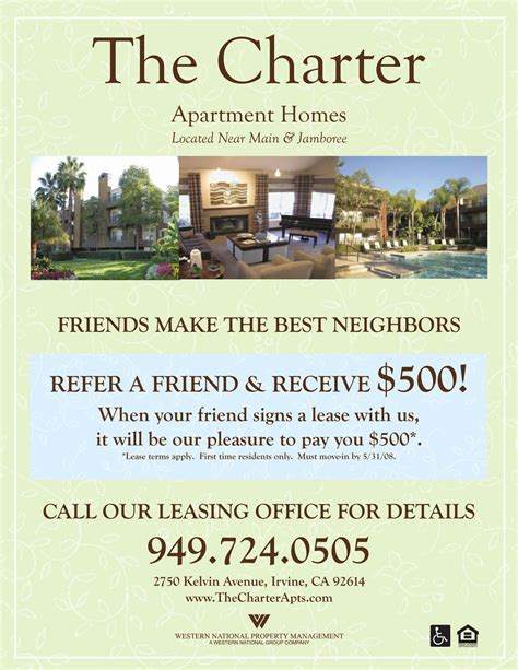 Apartment Specials Ideas Refer A Friend Apartment Flyer Apartment Marketing Ideas