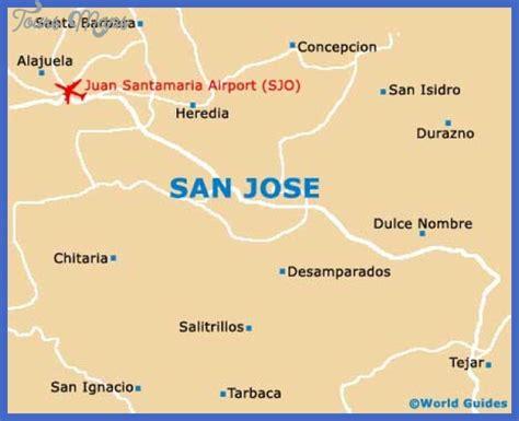 san jose jungle map san jose map tourist attractions toursmaps