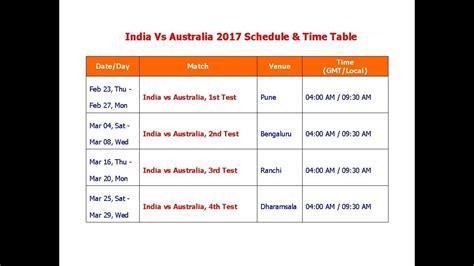 2017 series of table india vs australia feb 2017 schedule table