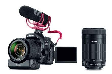 Lensa Canon 55 250mm Is Usm canon eos 80d creator kit ef s 18 135mm is usm lens power zoom adapter microphone 32gb