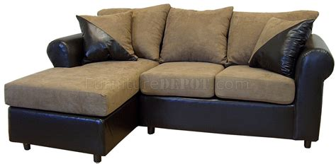 mocha fabric chocolate bicast contemporary sectional sofa