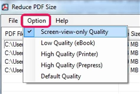 compress pdf according to size compress pdf files with 5 different settings to reduce pdf