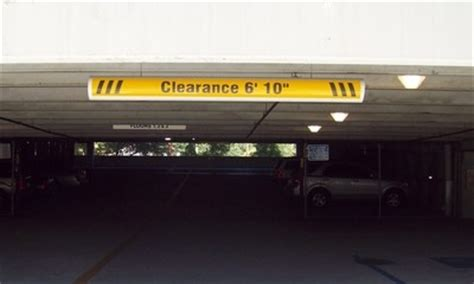 Parking Garage Clearance by Parking Traffic Signs Architectural Exterior Signs