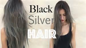 can gray hair turn black again how to black roots silver grey hair stella youtube