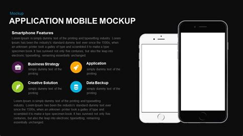 app design keynote application mobile mockup powerpoint and keynote template