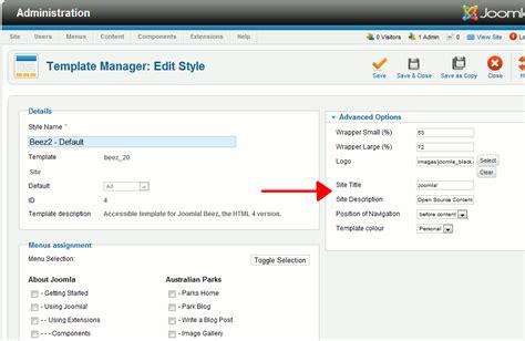 joomla template development joomla 2 5 templates jfactory getapplication