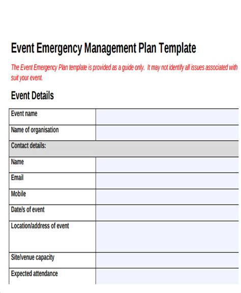 19 Event Plan Templates In Pdf Free Premium Templates Event Safety Plan Template