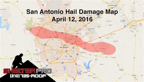San Antonio Roofs Damaged in Hail Storm   Shelter Pro