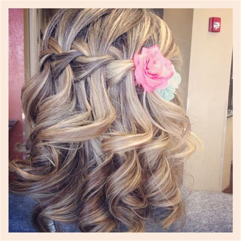 wedding hair how to hold curls in dominican republic waterfall braid bridesmaid hair gorgeous can i keep