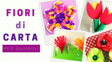 lavoretti fiori di carta fiori di carta per bambini babygreen