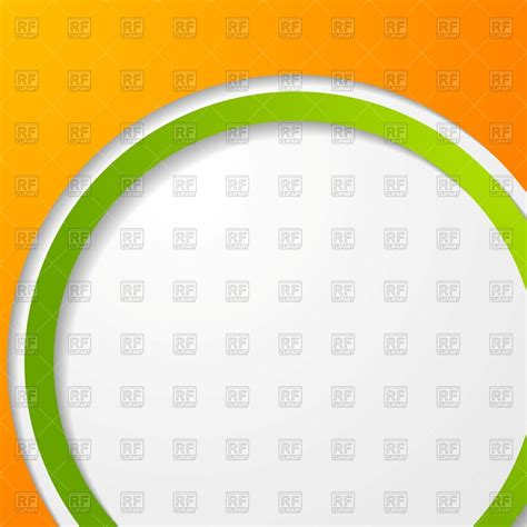 abstract background with orange and green round frame