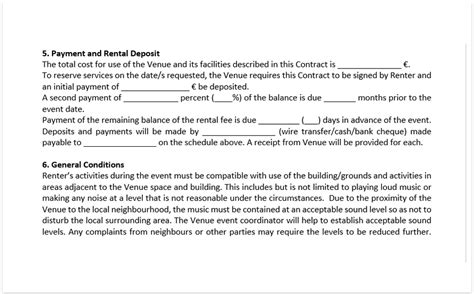 Event Venue Contract Template Download A Free Pdf Venue Contract Venue Contract Template