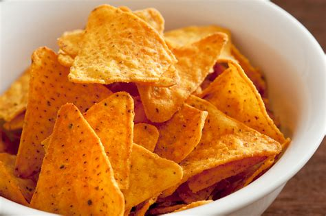 traditional bowl food bowl of traditional triangular corn tortilla chips free