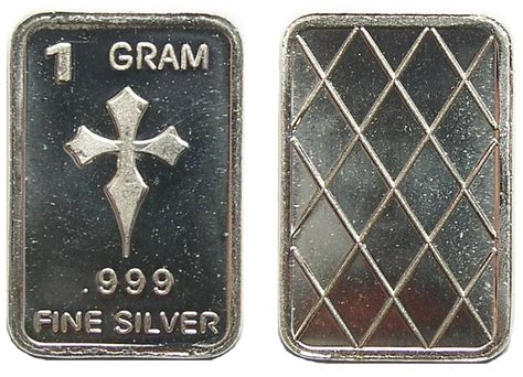 One Gram 999 Silver Cross Bar Property Room