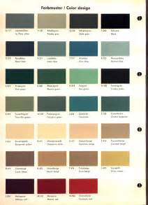 Opel Color Opel Rekord A B Color Chart