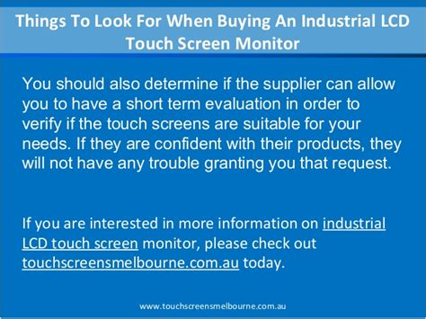 8 Things To Look For In A by Things To Look For When Buying An Industrial Lcd Touch
