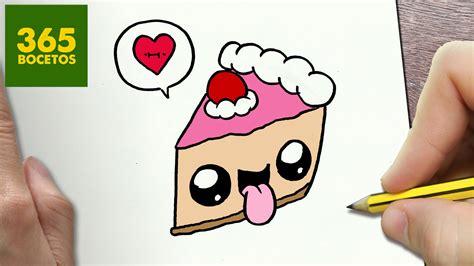 imagenes kawaii a lapiz como dibujar tarta kawaii paso a paso dibujos kawaii