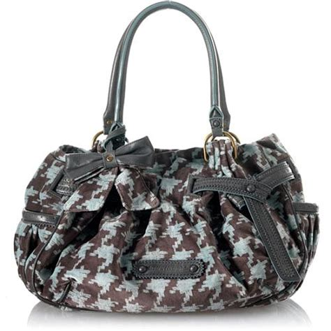 Handbag Find Of The Day Couture by Couture Brogue Houndstooth Day Fluffy Satchel Handbag