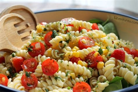 pasta salad with rotini garden fresh pasta salad with cilantro lime drizzle