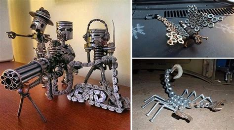 17 best images about cool stuff metal on pinterest 10 things made out of old parts home design garden