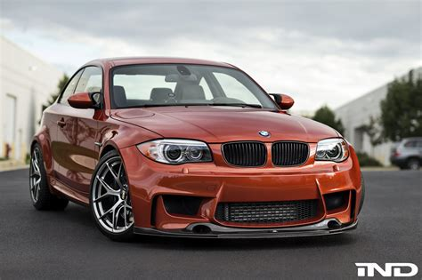 1m bmw valencia orange bmw 1m on bbs fi r wheels
