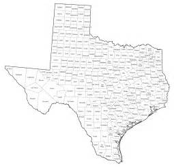 us map county lines tx