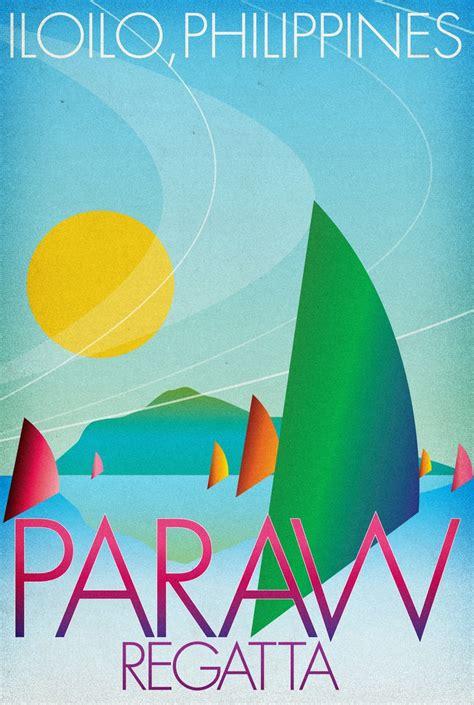 paraw regatta iloilo tourism poster by teammanila