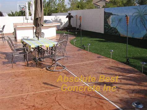 concrete patio las vegas absolute best concrete patios las vegas