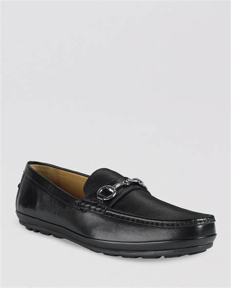 black cole haan loafers cole haan hudson bit driving loafers in black for lyst