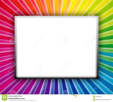 colorful picture frames colorful frame stock photo image 10539180