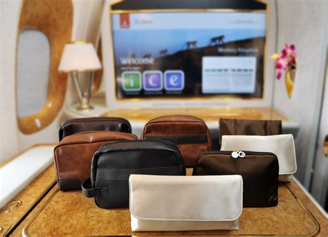 Tas Travel Kit Kosmetik Bvlgari From Emirates Bussiness Class the most luxe in flight amenity kits luxury escapes magazine