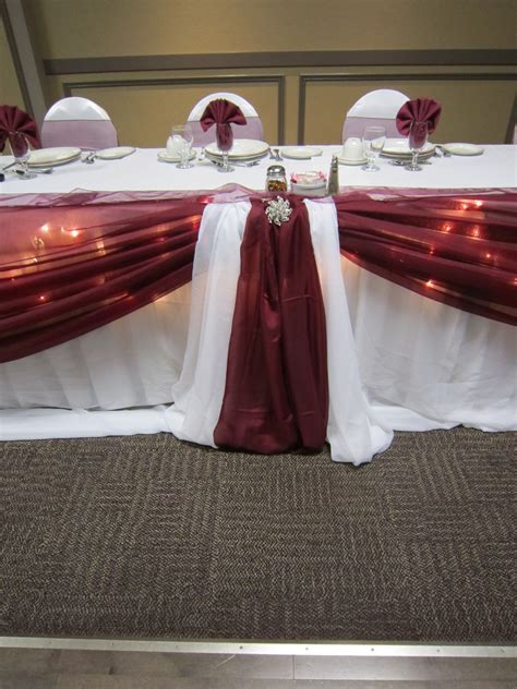 burgundy wedding decorations   Set The Mood Decor