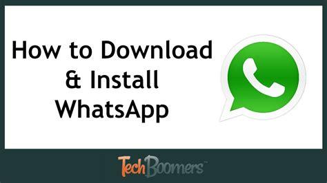 install whatsapp youtube