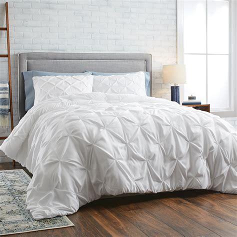 homes gardens white pintuck  piece comforter set