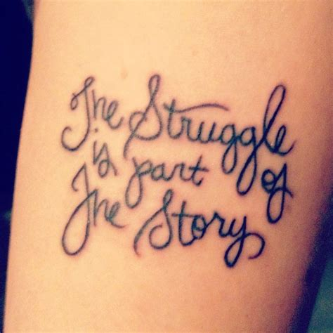 tattoo lettering ideas quotes vintage tattoo quotes on arm the struggle is part of the